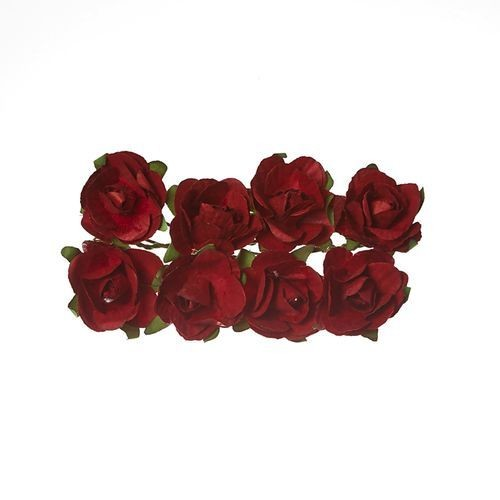 ScrapBerry`s - Paper Flowers -  Rose - Bordo