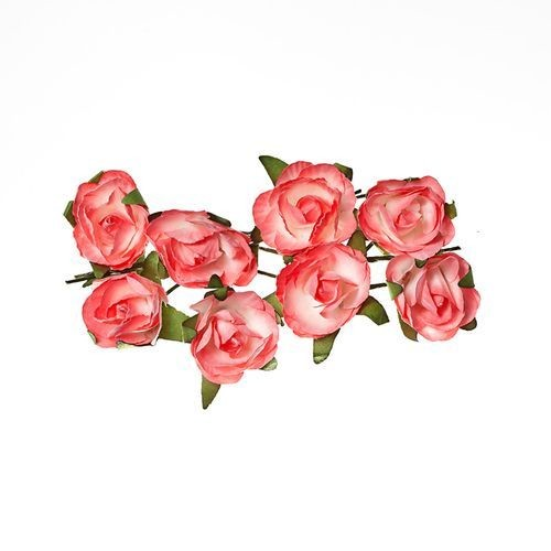 ScrapBerry`s - Paper Flowers -  Rose - Pink