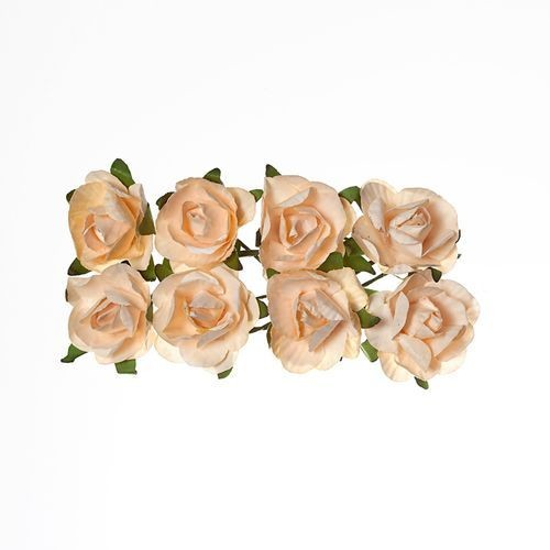 ScrapBerry`s - Paper Flowers -  Rose - Peach