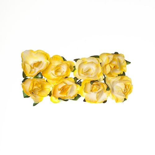 ScrapBerry`s - Paper Flowers -  Rose - Light Yellow