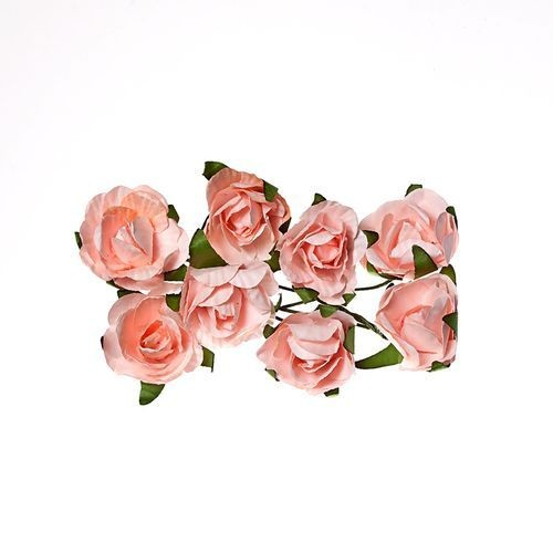 ScrapBerry`s - Paper Flowers -  Rose - Light Pink