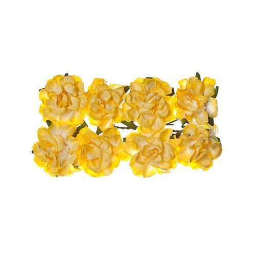 ScrapBerry`s - Paper Flowers - Clove - Light yellow