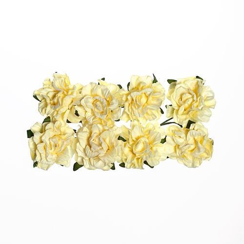 ScrapBerry`s - Paper Flowers - Clove - Cream white