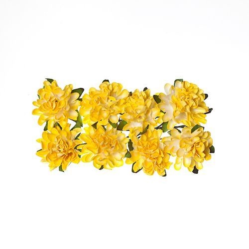 ScrapBerry`s - Paper Flowers - Daisy - Light yellow
