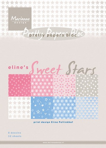 Marianne Design - Pretty Papers bloc - Eline`s sweet star
