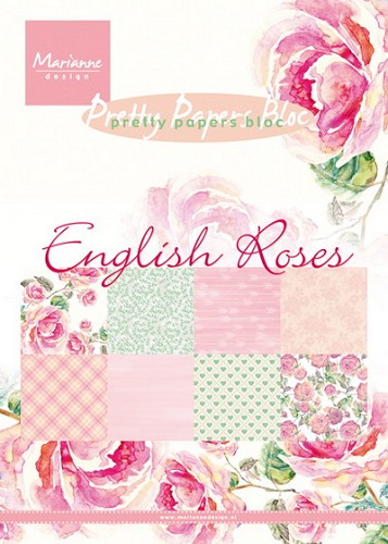 Marianne Design - Pretty Papers Bloc - English roses