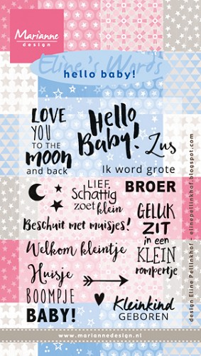 Marianne Design - Clearstamp - Eline`s words sweet baby