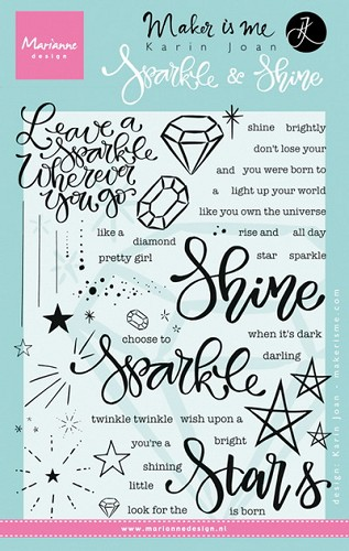 Marianne Design - Clearstamp - Karin Joan - Sparkle and shine