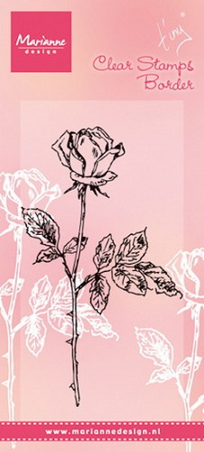 Marianne Design - Clearstamp - Tiny`s single rose