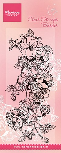 Marianne Design - Clearstamp - Tiny`s border roses
