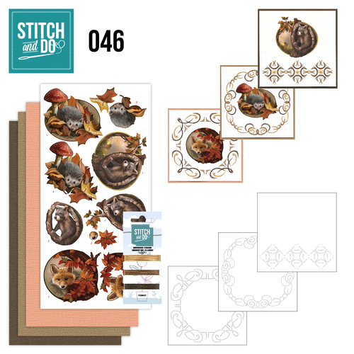 Card Deco - Stitch and Do - Borduurset 46 - Autumn
