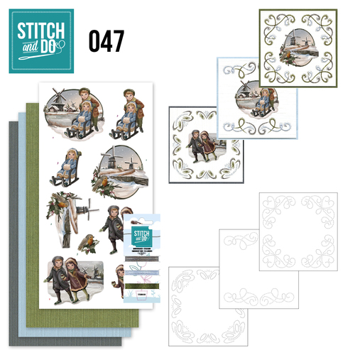 Card Deco - Stitch and Do - Borduurset 47 - Winterglow