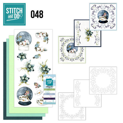 Card Deco - Stitch and Do - Borduurset 48 - Winterfun