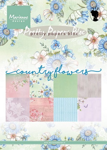 Marianne Design - Pretty Papers Bloc - Country flowers
