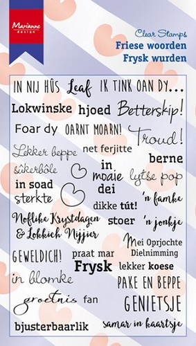 Marianne Design - Clearstamp - Friese woorden