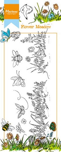 Marianne Design - Clearstamp - Border flower meadow