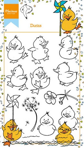 Marianne Design - Clearstamp - Ducks