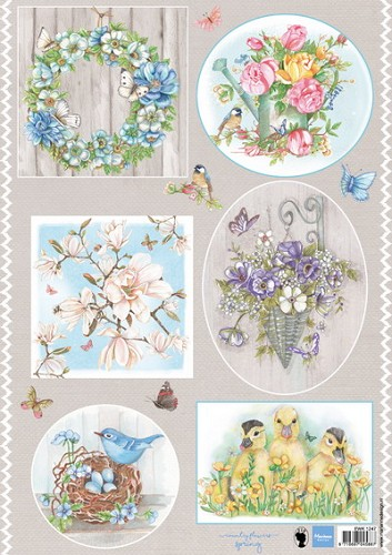 Marianne Design - knipvel - Els country flowers 1
