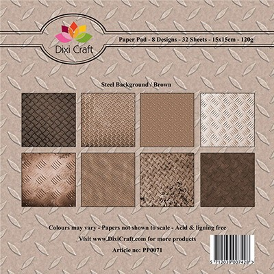 Dixi Craft - Paperpack - Steel background brown