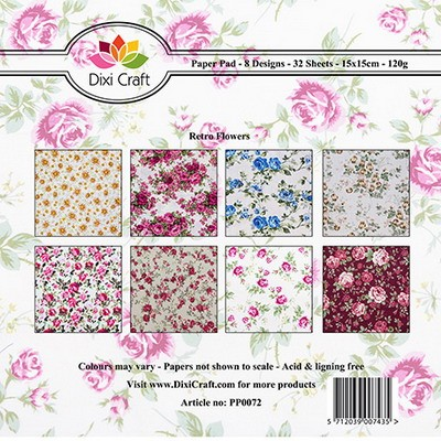 Dixi Craft - Paperpack - Retro flowers