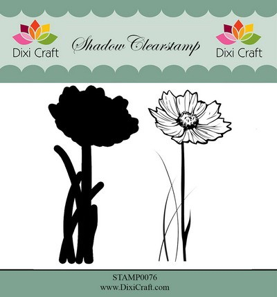 Dixi Craft - Shadow Clearstamp - Flower 1