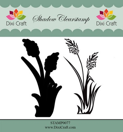 Dixi Craft - Shadow Clearstamp - Flower 2