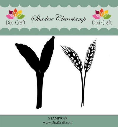 Dixi Craft - Shadow Clearstamp - Flower 4