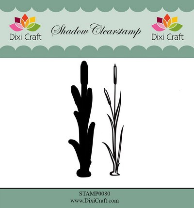 Dixi Craft - Shadow Clearstamp - Flower 5