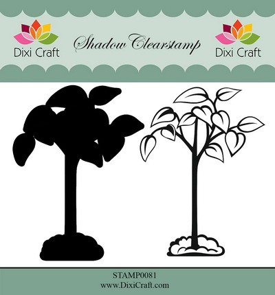 Dixi Craft - Shadow Clearstamp - Flower 6