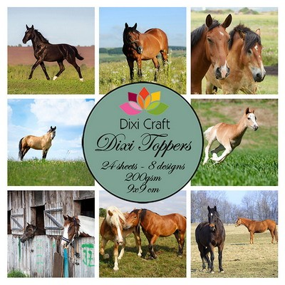 Dixi Craft - Toppers  - Horses