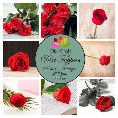 Dixi Craft - Toppers  - Roses