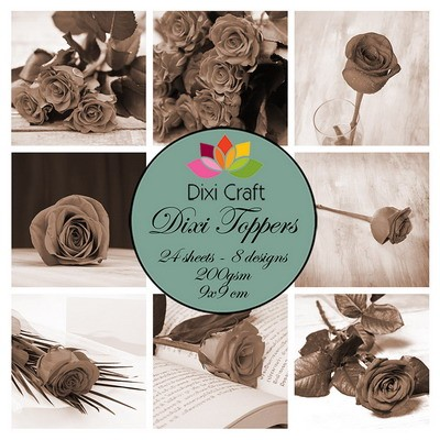 Dixi Craft - Toppers  - Roses sepia