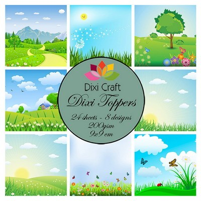 Dixi Craft - Toppers  - Spring landscape