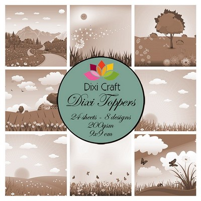 Dixi Craft - Toppers  - Spring landscape sepia