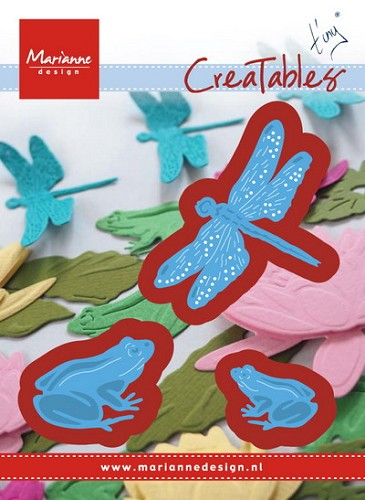 Marianne Design - Die - Creatables - Tiny`s frogs and dragonfly