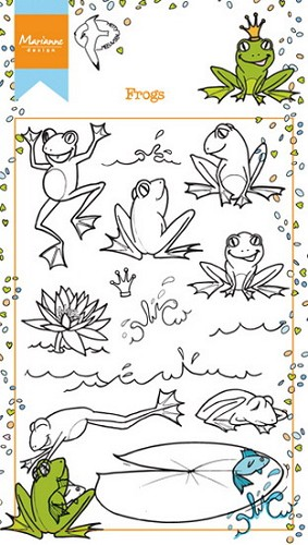 Marianne Design - Clearstamp - Frogs