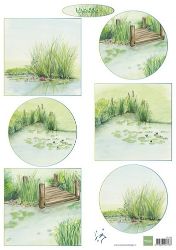 Marianne Design - knipvel - Tiny`s waterlilies