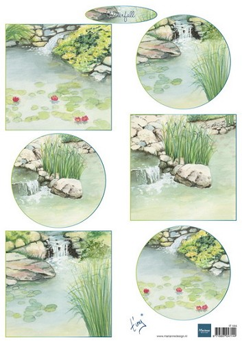 Marianne Design - knipvel - Tiny`s waterfalls