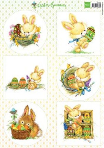 Marianne Design - knipvel - Easter bunnies