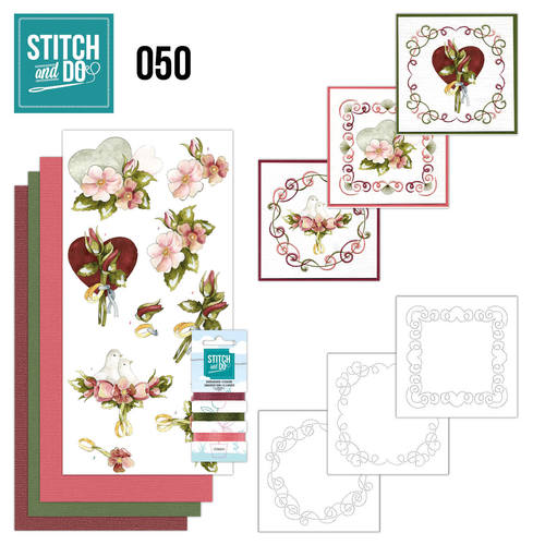 Card Deco - Stitch and Do - Borduurset 50 - Huwelijk