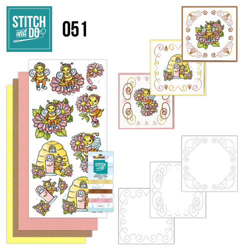 Card Deco - Stitch and Do - Borduurset 51 - Bijtjes