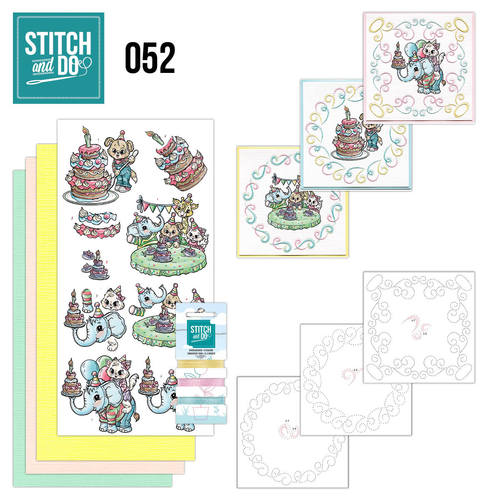 Card Deco - Stitch and Do - Borduurset 52 - Tods and Toddlers