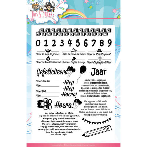 Yvonne Creations - Clearstamp - Tots and Toddlers - Tekst