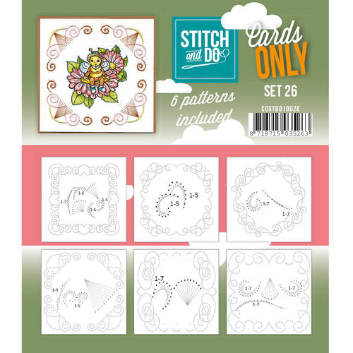 Card Deco - Stitch & Do - Cards only - Set 26