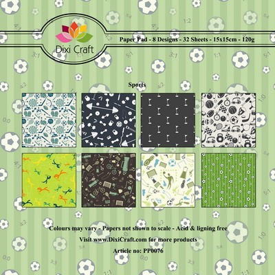 Dixi Craft - Paperpack - Sports background