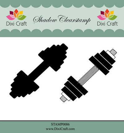 Dixi Craft - Shadow Clearstamp - Weightlifting