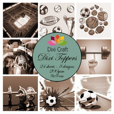 Dixi Craft - Toppers - Sports 1 Sepia