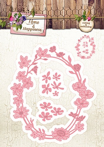 Studio Light - Embossing Die Cut Stencil - Home & Happiness