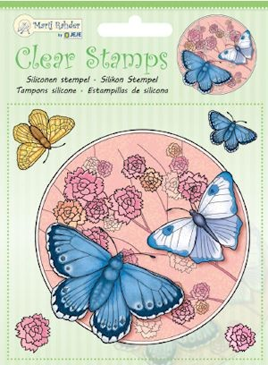 Marij Rahder - Clearstamp - Butterfly