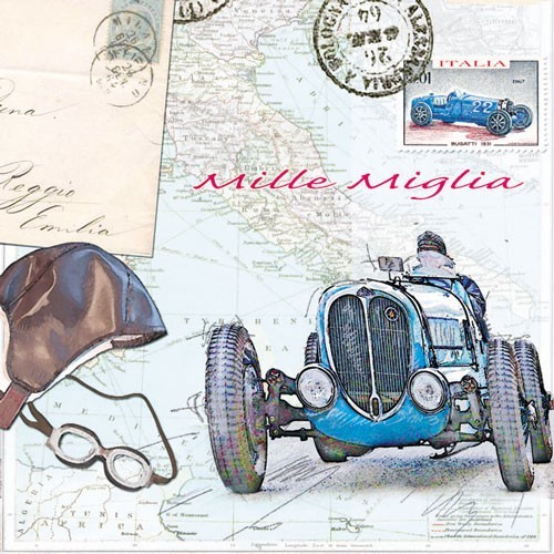 CraftEmotions - Servetten - Mille Miglia